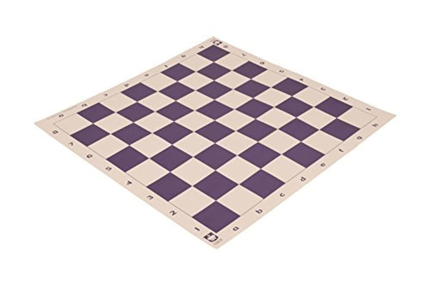 Standard Paper Tournament Chess Board - 2.25 Squares - Violet & Buff by