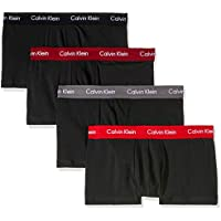 Calvin Klein Men's Underwear Cotton Stretch Low Rise Trunk (4 Pack)