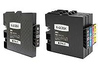 officeネット 互換インク 4色セット + K 1本 / IPSIO GX2500 GX3000 GX3000S GX3000SF GX5000 GX7000 GX2800V 対応 リコー用 (5本)