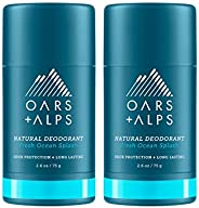 Oars + Alps Natural Deodorant for Men and Women, Aluminum Free and Alcohol Free, Vegan and Gluten Free