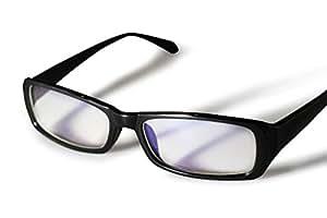 PENGIN PC(ペンギン ピーシー) 私はこれで十分 パソコン用眼鏡 PCメガネ ブルーライト 青色光 カット メンズ レディース PENGINロゴ入りグロス&ケース&ドライバー 4点セット (ブラック)