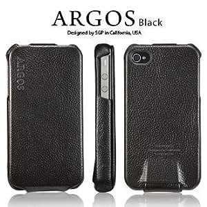 SPIGEN SGP アイフォン 4 / 4S ケース Argos 【 BLACK 】 本革 フリップタイプ for Apple iPhone 4 / 4S 【 SGP06828 】