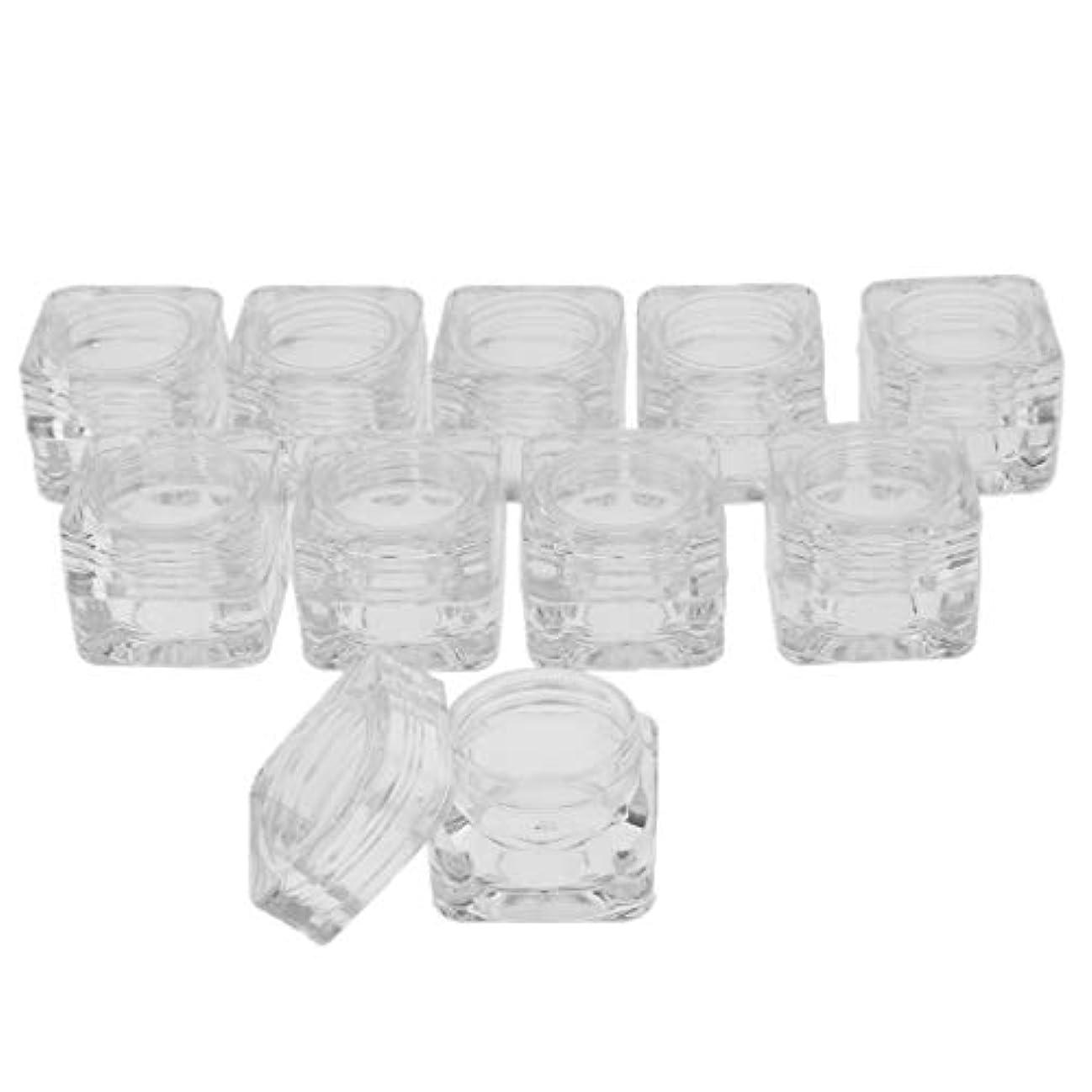 腰秘密の好きであるsharprepublic 10ピース/個5g化粧品サンプル空容器プラスチック瓶クリーム、アイシャドウ、ネイル、パウダー、ジュエリー用ボトル