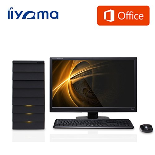 iiyama MS Word・Excel付 MN7250-i7-GXRM[Windows 8.1搭載]モニタ別売 (Core i7-4790/1TB/8GB/DVD/GeForce GTX 750/Office Personal Premium) デスクトップパソコン 雅シリーズ ミニタワータイプ