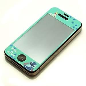 iJacket ディズニーキャラクターiPhone4S/4対応 気泡が入らない液晶保護フィルム スティッチ&スクランプ PG-IJK581STI