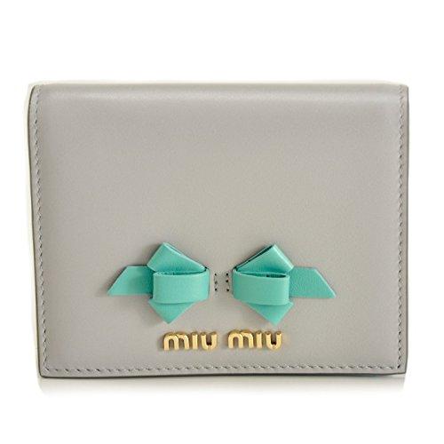 MIUMIU(ミュウミュウ) ミニ財布 小銭入れ カードケース 二つ折り財布 5MV204 UEI 407 [並行輸入品]
