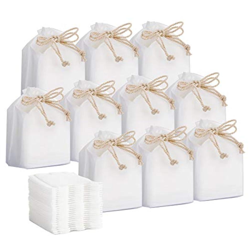 とげと闘う奇妙なコットン Luxspire 化粧綿 クリーンパフ サイドシールタイプ やわらかな天然綿 お肌にやさしい 毛羽立たない メイク落とし用 クレンジング 化粧用コットン 6cm x 5cm 30枚入 x 10個パック White