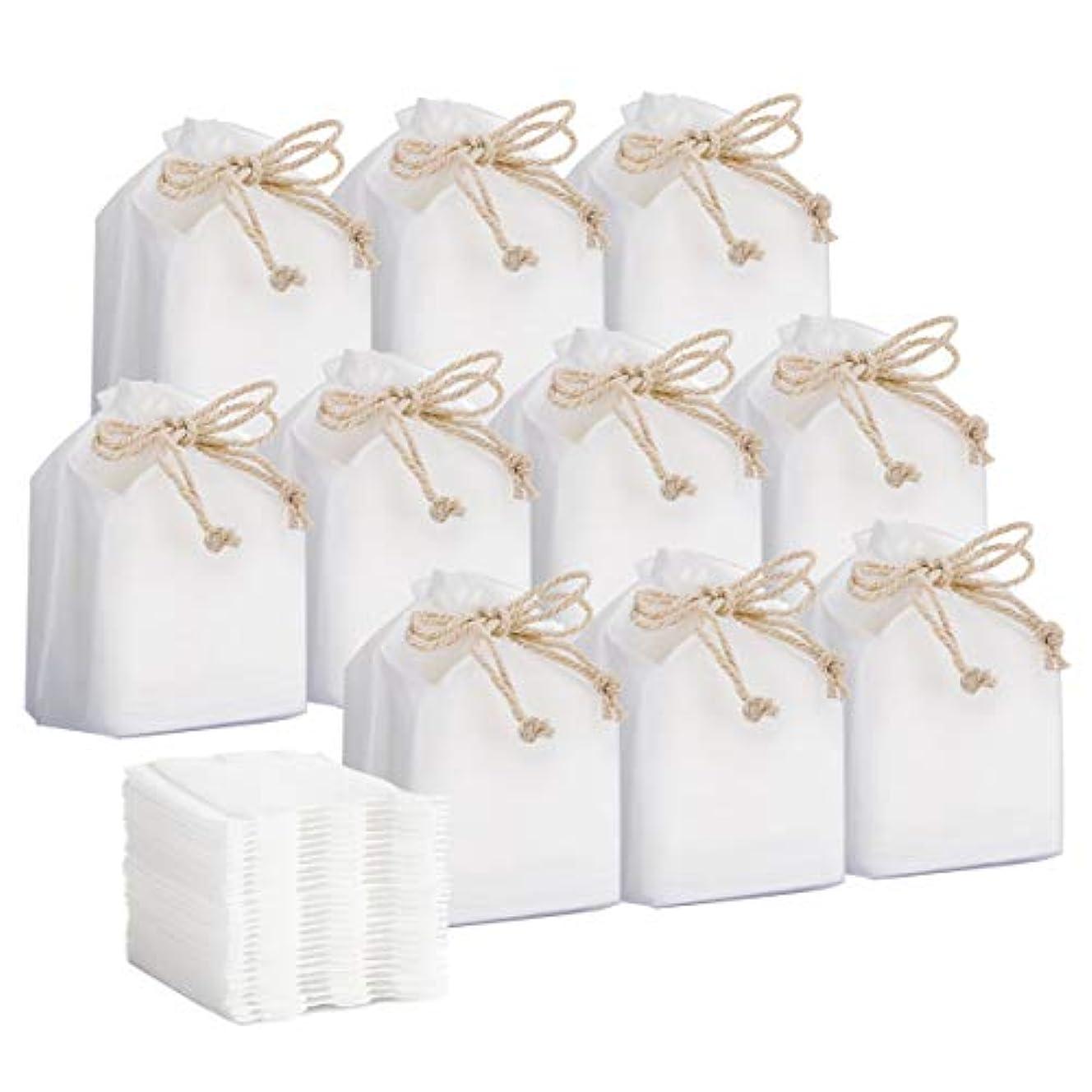 区別これらバストコットン Luxspire 化粧綿 クリーンパフ サイドシールタイプ やわらかな天然綿 お肌にやさしい 毛羽立たない メイク落とし用 クレンジング 化粧用コットン 6cm x 5cm 30枚入 x 10個パック White