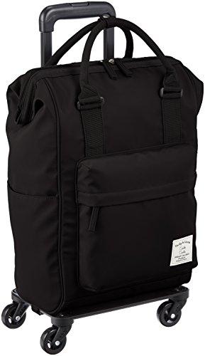 [カシュカシュ] 口枠リュック型キャリーバッグ  45cm 1.76kg 01-00-49960 BK ブラック