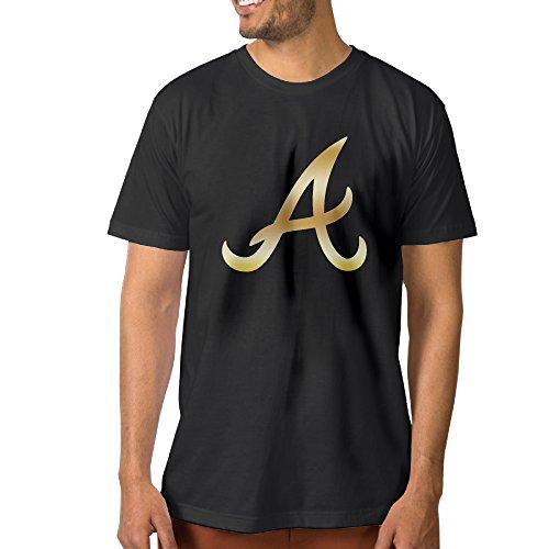 【エクセル】大きいサイズ アトランタ・ブレーブスゴールド ロゴ Tシャツ 男の子 ショートスリーブ アウトドア スポーツウェア クルーネック