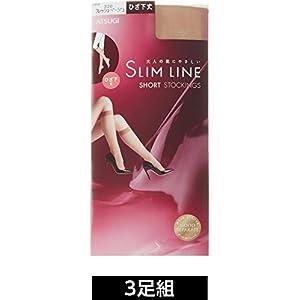 (アツギ) ATSUGI ストッキング SLIM LINE(スリムライン) ひざ下丈 ストッキング 〈3足組〉