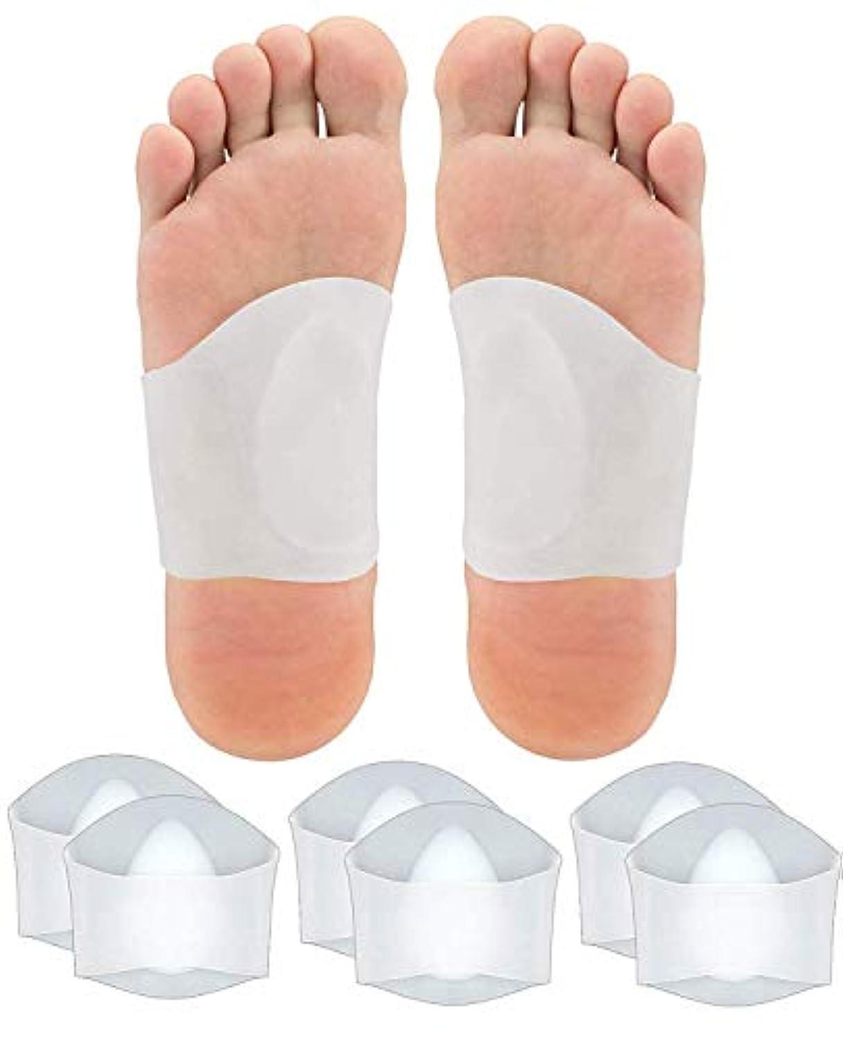 療法主流三番ATROPOSS 扁平足 サポーター 3組セット アーチサポーター 偏平足 矯正 足裏 シリコン素材 フリーサイズ (L)