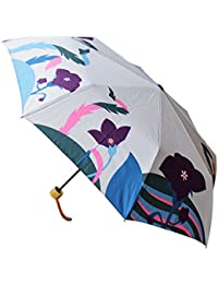 【和傘屋北斎グラフィック】和柄テキスタイル三つ折り畳み傘 桔梗