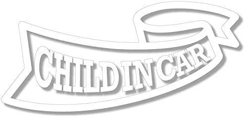 nc-smile CHILD IN CAR ステッカー リボン (ホワイト)