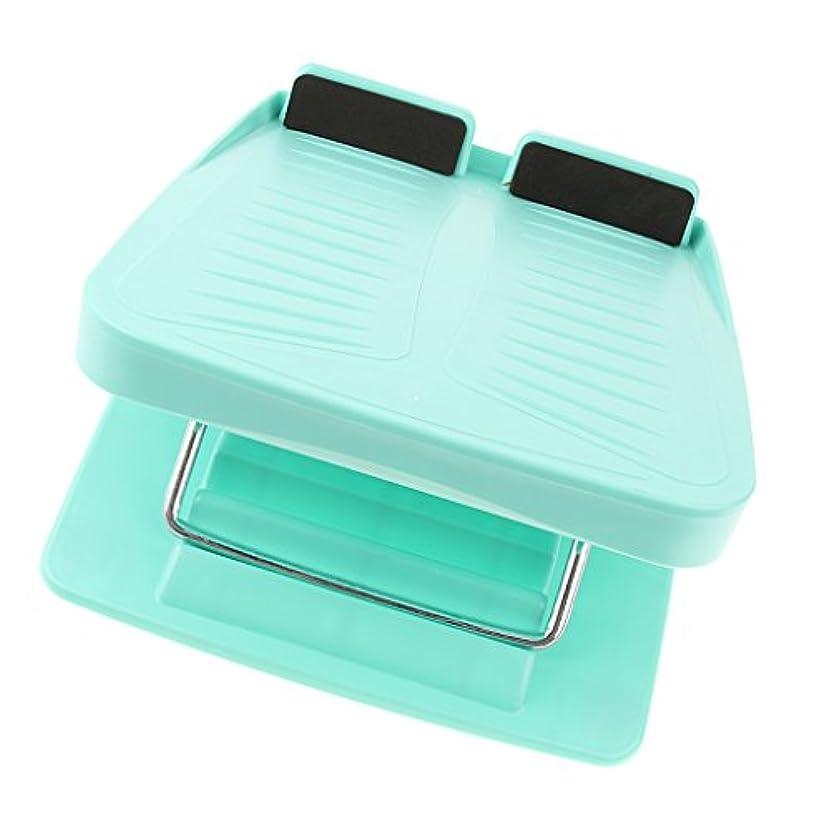 別にポーチ熟す調整可能 スラントボード アンチスリップ カーフストレッチ 斜面ボード ウェッジストレッチャー 3色 - 青