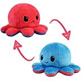 TeeTurtle   The Original Reversible Octopus Plushie   Patented Design   Light Blue + Dark Blue   Day + Night   Show Your Mood