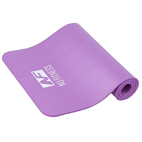 [해외]Nu fitness 요가 매트 필라테스 근육 트레이닝 스트레칭 매트 수납 케이스 고무 스트랩있는 고밀도 NBR 니트릴 고무 운동 10mm 경량 방음 방수/Nu fitness Yoga mat Pilates muscle trresstretch mat storage case with rubber strap High density N...