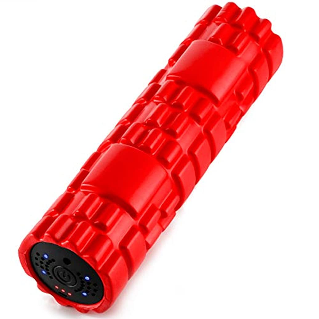 酸素悪化させる欠席SUVIUS Medium Vibrating Foam Roller – 4強度レベルFirm for battery-powered Deep Tissueリカバリ、トレーニング、マッサージ – Therapeutic Back andマッスルマッサージローラー
