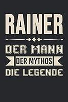 Rainer Der Mann Der Mythos Die Legende: Din A5 Kariertes Heft (Kariert) Mit Karos Fuer Rainer | Notizbuch Tagebuch Planer Fuer Jeden Mit Dem Vorname Rainer | Notiz Buch Geschenk Journal Rainer Name & Spitzname Notebook