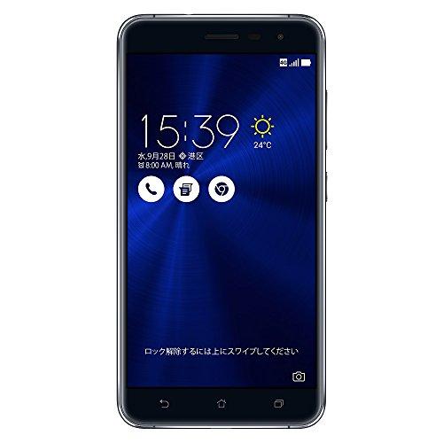 ASUS ZenFone3 SIMフリースマートフォン (ブラック/5.5インチ)【日本正規代理店品】(オクタコアCPU/4GB/64GB/DSDS & au VoLTE対応)ZE552KL-BK64S4/A