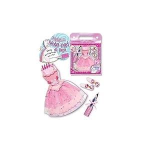 Pecoware Little Dancer Fashion Note Pad & Pen Set フィギュア ダイキャスト 人形(並行輸入)