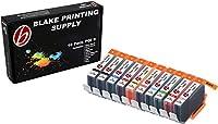 10パックBlake印刷供給pgi9インクカートリッジfor Canon Pixma pro9500Pixma pro9500マークII