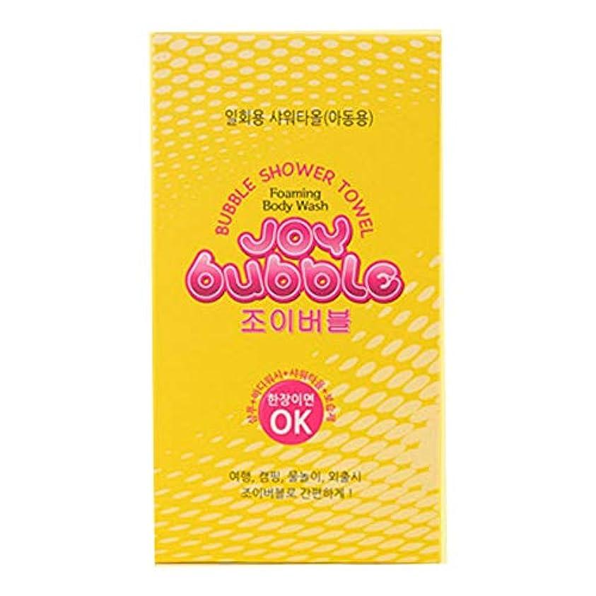 処理するペック水っぽい[TSP-Korea] Joy Bubble - バブル シャワー タオル 旅行 旅 携帯 使い捨て シャワータオル(2 types)[並行輸入品] (子供用)