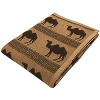 京都西川 キャメル毛布 天然繊維 ベージュ ラクダ柄 シングル 140×200 CMH3002