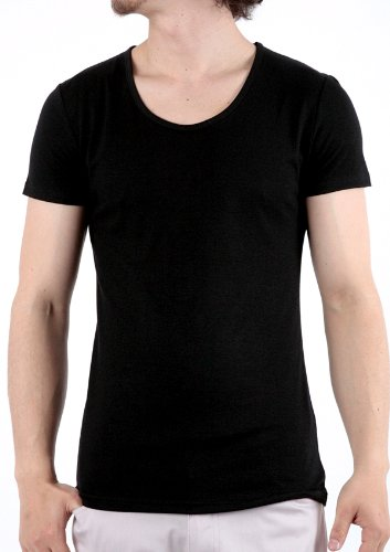 L ブラック メンズ Tシャツ メンズ カットソー メンズ メンズTシャツ メンズカットソー