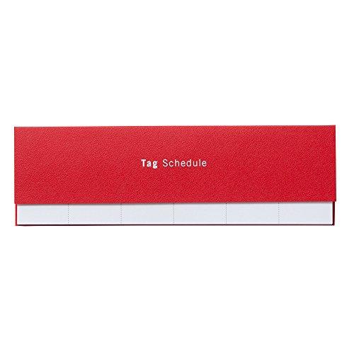リプラグ 付箋 メモ Tag Schedule レッド B02-097