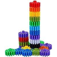 フィオロム 組み立てブロック 連結する単色プラスチック 組み立ておもちゃセット インタラクティブパズル 知育 学習 軸の組み立て 建築 未就学児 男の子 女の子 90ピース マルチカラー