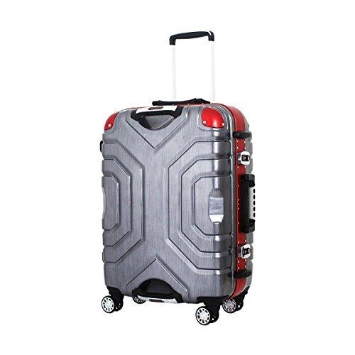 [シフレ エスケープ] siffler ESCAPE'S シフレ エスケープ B5225T-67 スーツケース 受託手荷物無料サイズ 双輪キャスター (ヘアラインブラック/レッド)