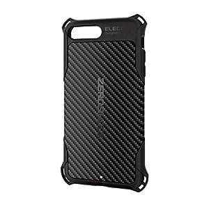 エレコム iPhone8 Plus ケース カバー 衝撃吸収 【 落下時の衝撃から本体を守る 】 ZEROSHOCK TPU素材 カーボン iPhone7 Plus対応 ブラック PMWA17LZEROGBK