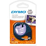 DYMO LetraTag Labeler Plastic Tape 12mm x 4M Clear