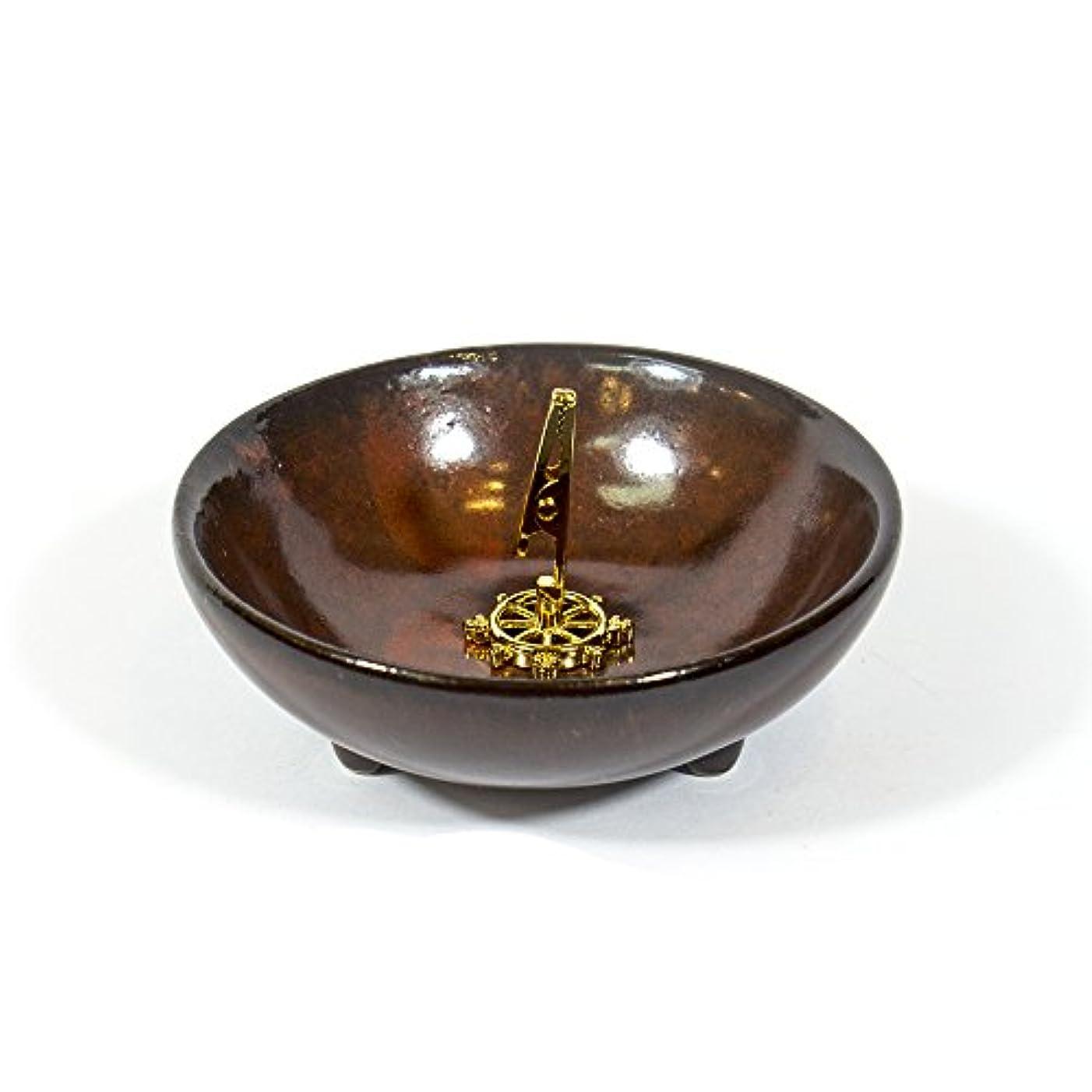 仮説かすかなシャッフル(DarkRed) - Incense Holder for Coils Sticks Cones Ceramic Holder Dark Red Type