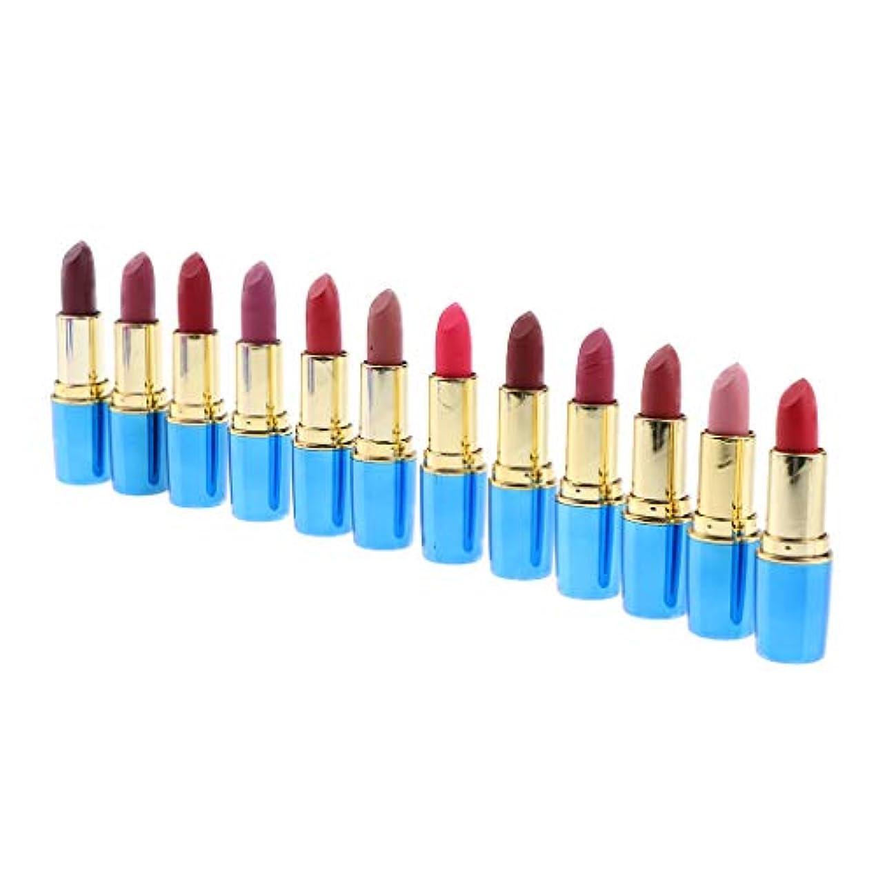 Perfeclan お化粧 化粧品 マットリップスティックセット 防水 12色