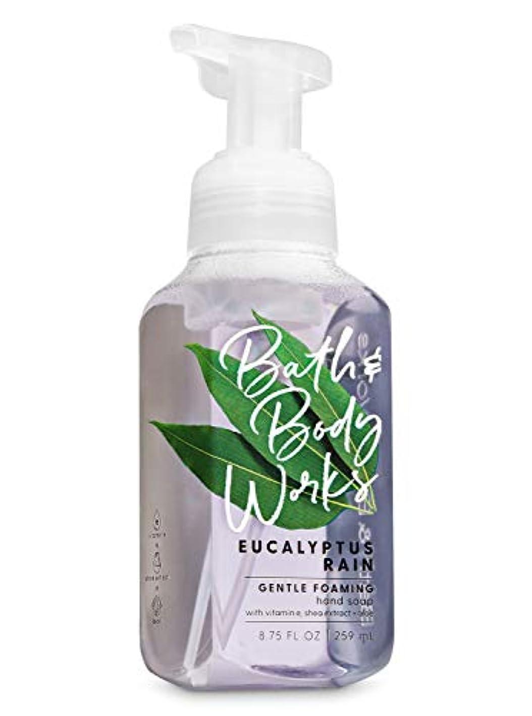 九時四十五分寄り添う作成者バス&ボディワークス ユーカリレイン ジェントル フォーミング ハンドソープ Eucalyptus Rain Gentle Foaming Hand Soap