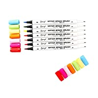 chiwanji ブラシペン マーカーペン 水性ペン 子ども 絵画用品 全4種類 - 種類2