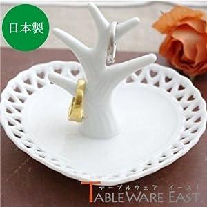 テーブルウェアイースト リングスタンド(ハート) 白 13.1 x 12.5 9.2 cm kn-E2-4010-0