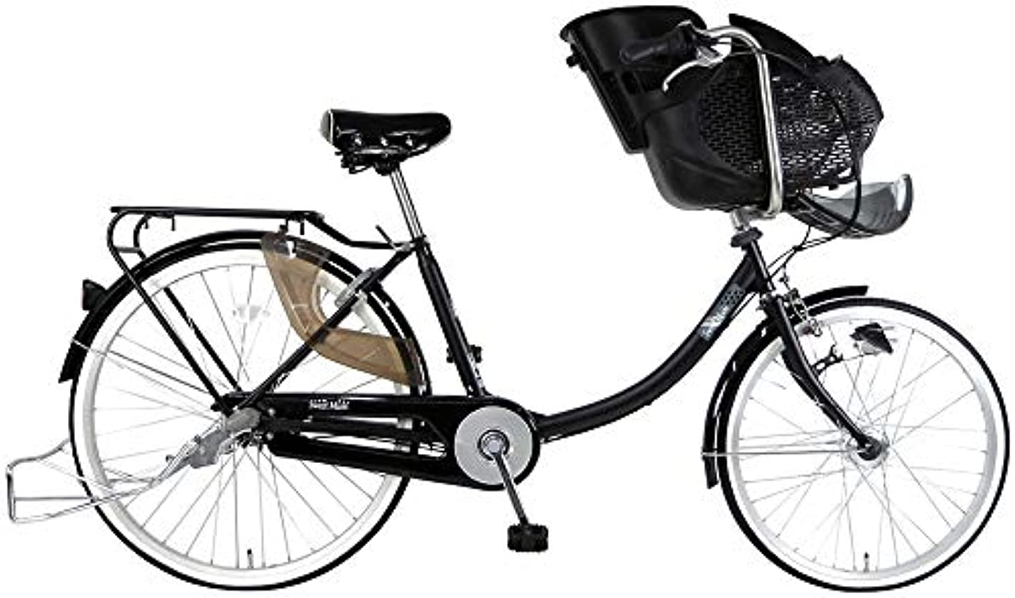 苗均等にご注意C.Dream(シードリーム) スイートママ 3人乗り対応 ブラック SWM63 26インチ 子供乗せ自転車 3段変速 100%組立済み発送