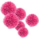 熱望紙ポンポンポンピング多色ティッシュペーパー花混合サイズ誕生日のお祝いベビーシャワーの結婚式パーティーの好意 - ホットピンク - 360個入り