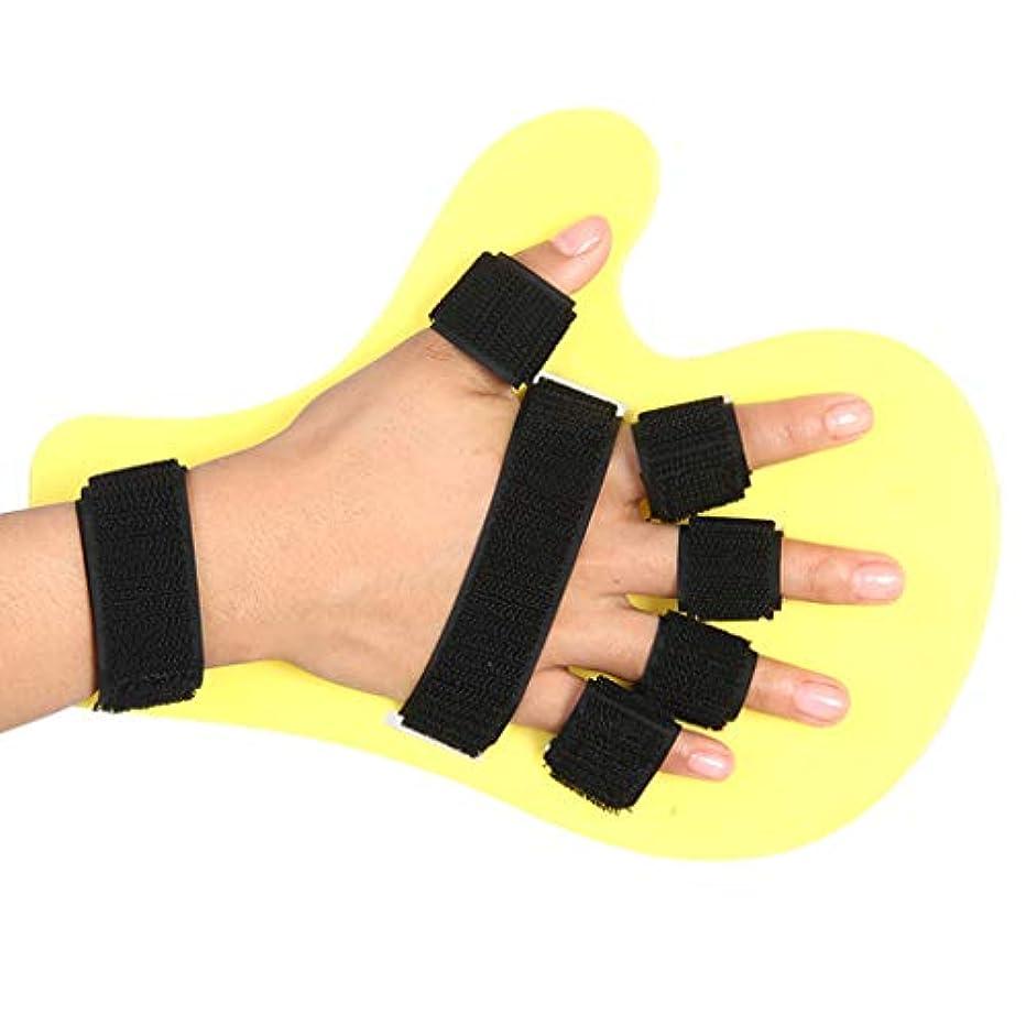 電池グロー彼らの副子指板訓練装置、調節可能な指装具、脳卒中片麻痺のための指リハビリテーション固定ストレート,A