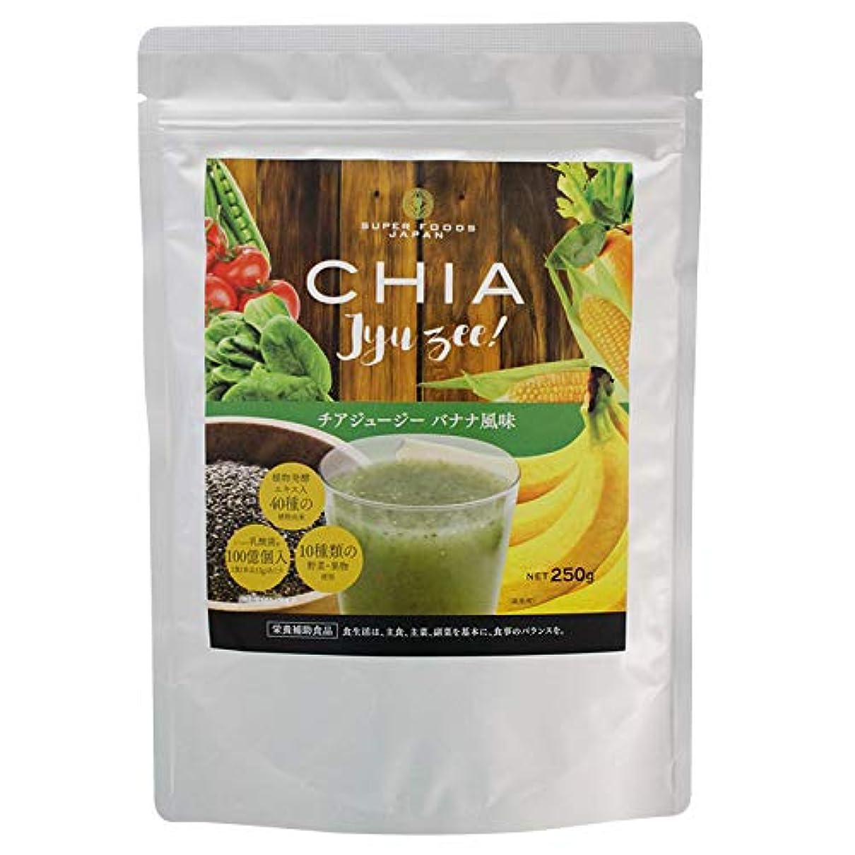 夢中市長勝利したチアジュージー バナナ風味 250g ダイエット スムージー 酵素 チアシード 食物繊維 乳酸菌