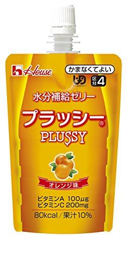 ハウス食品 水分補給ゼリー プラッシー (オレンジ味) 120g×8個