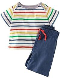 Aijoo ??子供服 男の子 トップスパンツ 丸首 半袖tシャツ パンツ ベビー服 赤ちゃん服 ボーイズ 夏服 セットアップ 可愛い 花柄 人気 紳士シャツ セット服