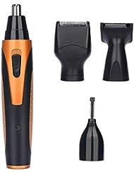 メンズ4 in 1鼻毛トリマー用ひげsideburn眉毛と耳のグルーミング簡単に使用してきれいな充電式USBケーブル