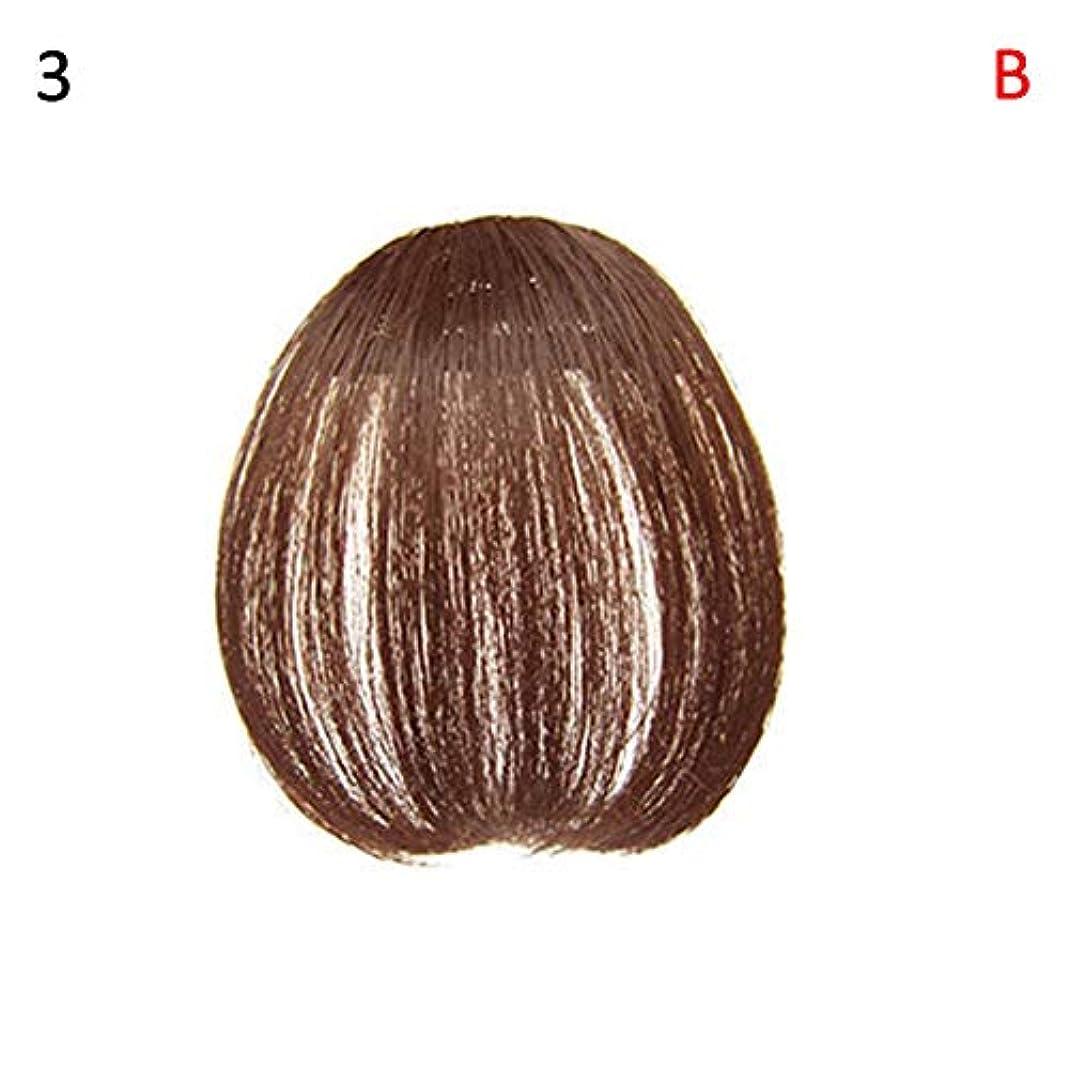 作家ズームインする解き明かすslQinjiansav女性ウィッグ修理ツールファッションレディース薄いクリップオンエアバンフロントフリンジウィッグヘアエクステンションヘアピース