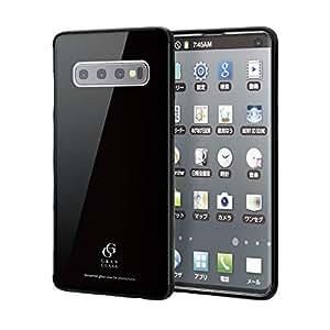 エレコム Galaxy S10 ケース SC-03L SCV41 ハイブリッドケース [ガラスとソフト素材の2種構造で本体を保護] 美しいリアルガラス採用 SIMPLE DESIGN ブラック