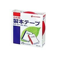 ニチバン 製本テープ 赤 25ミリ幅 10m BK-251/51325497