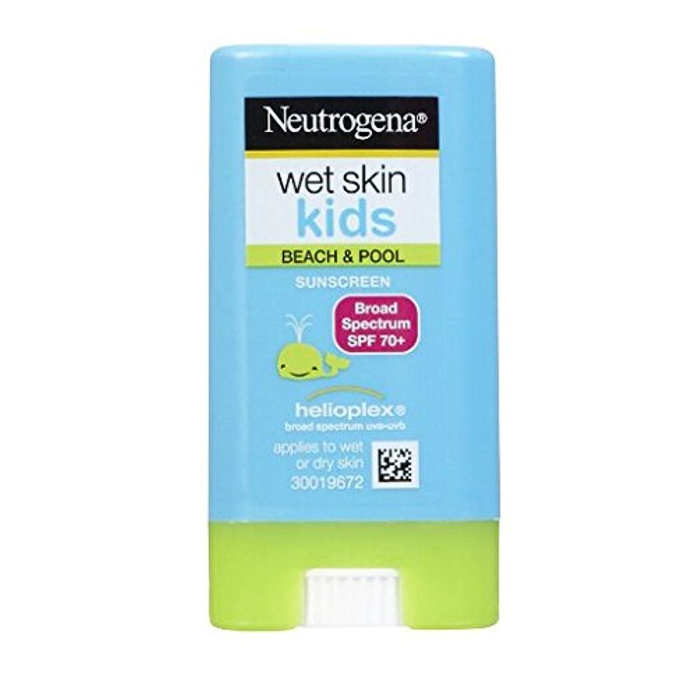 ポンド慈悲事前にニュートロジーナ サンスクリーン SPF70 小さな子にも塗りやすいスティックタイプ13g 100%ナチュラル処方 目にしみない日焼け止め 濡れた肌にもOK! ビーチやプールで大活躍 アメリカの皮膚科医が一番に勧めるサンスクリーン Neutrogena Wet Skin Kids Beach & Pool Sunscreen Stick Broad Spectrum SPF 70, .47 oz [並行輸入品]
